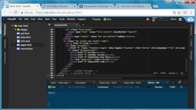 Building a Resume Website - Navbar